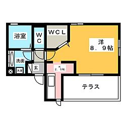仮)D-room東田町 3階1Kの間取り