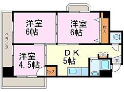 第3宮地マンション記念橋[908号室]の間取り