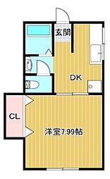 ドミールS[2階]の間取り
