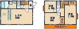 [タウンハウス] 兵庫県明石市大久保町大窪 の賃貸【/】の間取り
