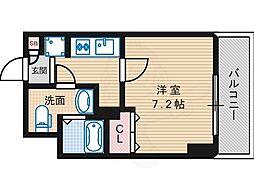 Osaka Metro御堂筋線 長居駅 徒歩2分の賃貸マンション 9階1Kの間取り