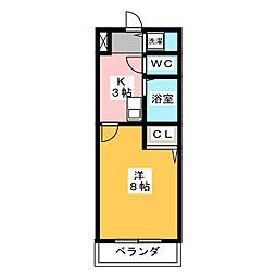 KIソシアIII[4階]の間取り