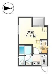 House C Cube[3階]の間取り