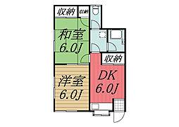 千葉県成田市花崎町の賃貸アパートの間取り