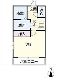 愛知県尾張旭市根の鼻町2の賃貸アパートの間取り