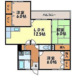 横山シティコーポ[202号室]の間取り