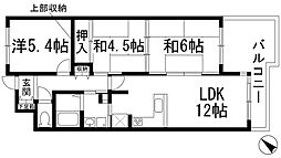 兵庫県宝塚市中山桜台6丁目の賃貸マンションの間取り