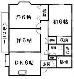 パールハウスC[2階]の間取り
