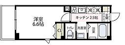 ラフィネ横浜[203号室号室]の間取り
