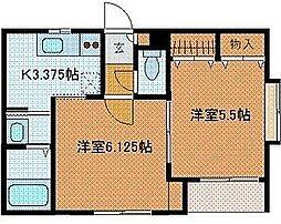 東京都町田市金森東3丁目の賃貸アパートの間取り