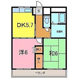 センチュリーナカシマ[306号室]の間取り