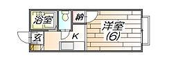 ルシエール三田3番館A棟[203号室]の間取り