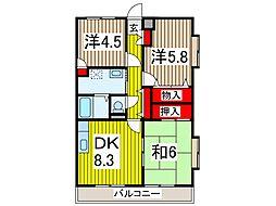 バルトハイム[4階]の間取り