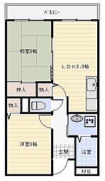 パレフルール[6階]の間取り