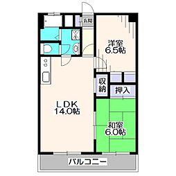 東久マンション[3階]の間取り
