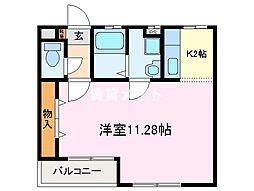 レジデンス 小花[1階]の間取り