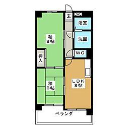 第6協和ビル[2階]の間取り