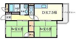 ドムス桃山台[3階]の間取り