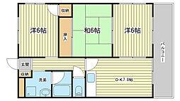 エスポワール80弐番館[105号室]の間取り