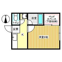 扶桑館 第二 フソウ・ハイムII[2階]の間取り