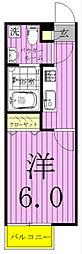 グレイス北松戸[203号室]の間取り