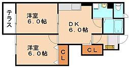 プラシードD[1階]の間取り