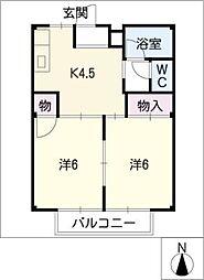 メゾンプロムナ[2階]の間取り