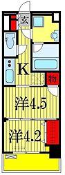 日神デュオステージ船橋[6階]の間取り