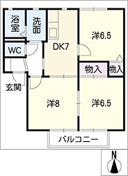 HOTARU C棟[2階]の間取り