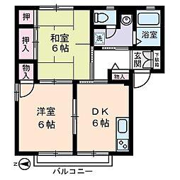 クレール大倉山 太尾町[1階]の間取り