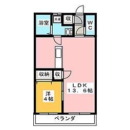 ポルト・ボヌール[4階]の間取り