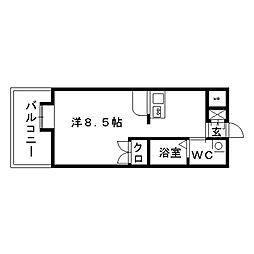 パークアベニュー22[6階]の間取り