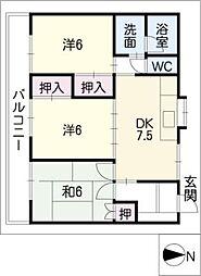 蔵子サニーコート[1階]の間取り