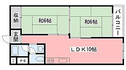 甲子園第8コーポラスA棟[A607号室]の間取り