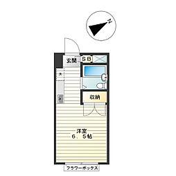 エステートピア高円寺[1階]の間取り