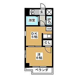 ガーデンビル城下[4階]の間取り