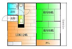 マンション第二和泉ハイツ[2階]の間取り