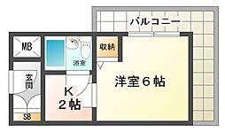 大阪府大阪市平野区加美北1丁目の賃貸マンションの間取り