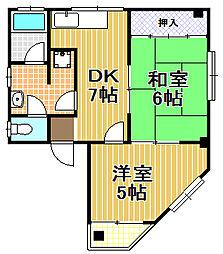 第2増井マンション[2階]の間取り