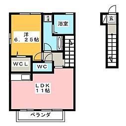 ラハイナ[2階]の間取り