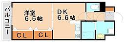 レジデンス御笠I[1階]の間取り