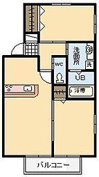 宮崎県宮崎市大字郡司分の賃貸アパートの間取り