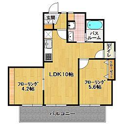 アーバン NAGAO[4階]の間取り