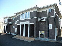 群馬県高崎市八幡町の賃貸アパートの外観