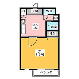 サン奥村[2階]の間取り