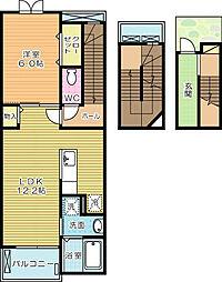 エクスクルーシブIV[3階]の間取り