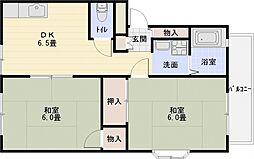 サンライフタナカ[3階]の間取り