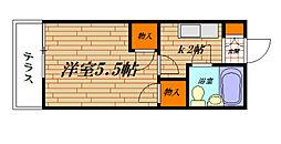 根本アパート[103号室]の間取り