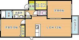 ハイツカトレア浅川 B棟[2階]の間取り