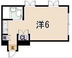 コーポ六本木[2階]の間取り